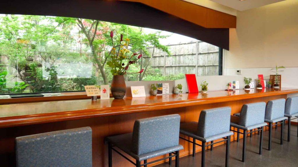 すみの八女茶・茶亭SUMIの中庭の画像