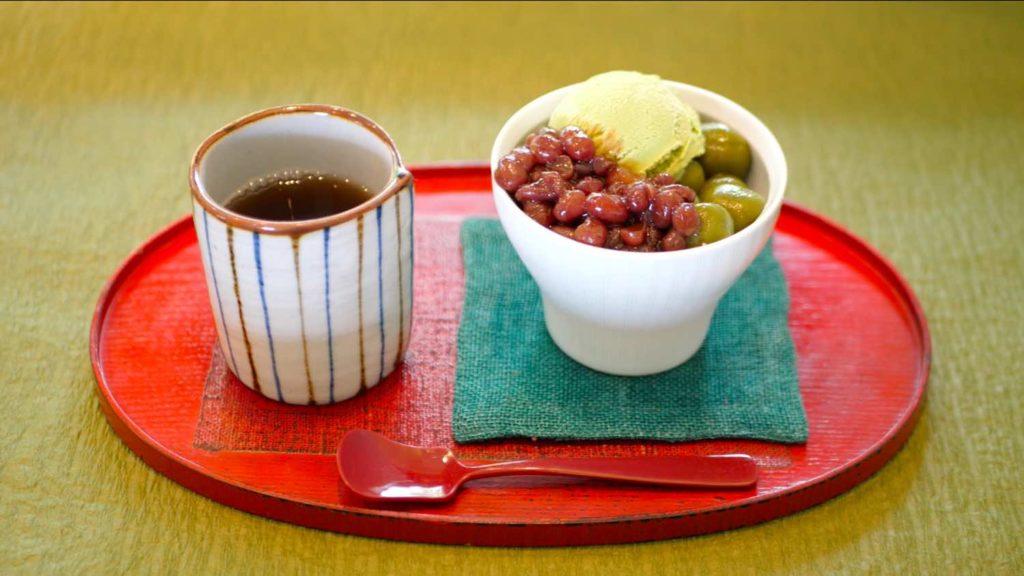 すみの八女茶・茶亭SUMIのあんみつセットの画像