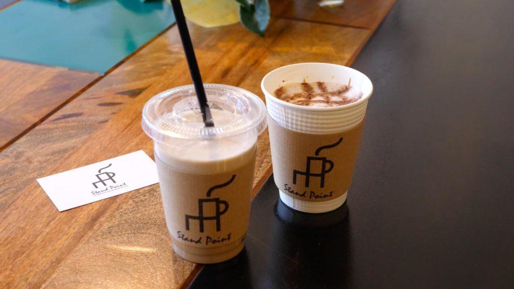 STAND POINTのカフェラテとカフェモカの画像